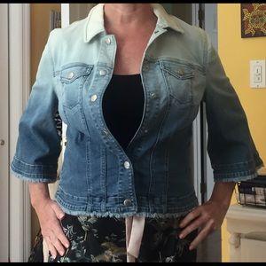 Chico's Jean Denim Tie Die Jacket NWT Size 0